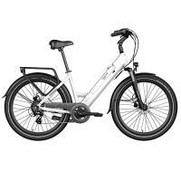 Comparateur de prix Legend Milano Vélo Électrique Ville Smart eBike Roues de 26 Pouces, Freins Disque Hydraulique, Batterie 36V 14Ah Panasonic (504Wh), Autonomie jusqu'à 100km, Blanc Artic