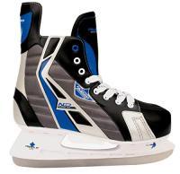 Comparateur de prix Schreuders Sport Nijdam Feuille d'érable Deluxe Hockey sur Glace Skate, Polyester, Mixte, Nijdam Maple Leaf, Noir/Bleu/argenté, 44