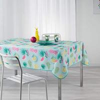 douceur d'intérieur Happy Summer Nappe Rectangle Imprimé, Polyester, Multicolore, 240x150 cm