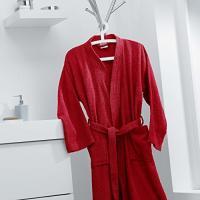 Comparateur de prix douceur d'intérieur peignoir kimono taille unique eponge unie vitamine rouge