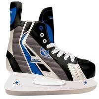 Comparateur de prix Schreuders Sport Nijdam Feuille d'érable Deluxe Hockey sur Glace Skate, Polyester, Mixte, Nijdam Maple Leaf, Noir/Bleu/argenté, 42