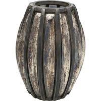 comparateur de prix Kare Photophore Ovale Refled en Aluminium brossé avec revêtement en Verre Doré