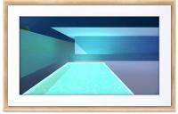 """Meural Canvas II - Tableau connecté toile numérique HD 27"""""""" Qui Restitue Les Oeuvres et les Photos avec des Détails Réalistes Cadre bois clair 19x29 WiFi Powered"""