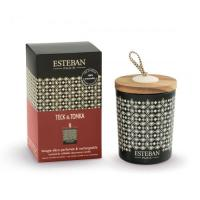 ESTEBAN Bougie décorative parfumée Teck & Tonka