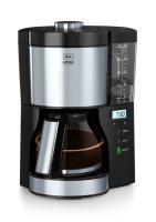 comparateur de prix Melitta Look V Timer 1025-08 Cafetière filtre programmable, 10 à 15 tasses, réservoir d'eau amovible et programme de détartrage, Noir / Inox