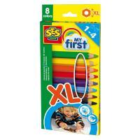 Comparateur de prix Crayons de couleurs My First : 8 crayons de couleurs XL