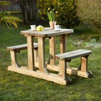 Comparateur de prix Table pique-nique en bois duo robuste