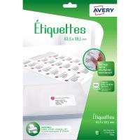 Comparateur de prix Etiquette Avery Etiquettes adressage 63.5x38.1mm