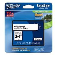 Comparateur de prix Brother - TZE-241 - Recharge ruban noir et blanc 18mm