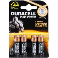 comparateur de prix Duracell Piles Alcaline Plus Power AA LR06 (par 4)