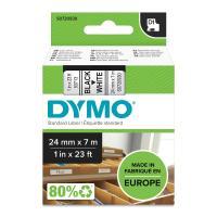 Comparateur de prix Dymo - 53713 - Ruban cassette - 24mm x 7m - Noir sur Blanc