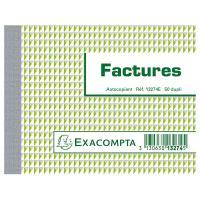 Comparateur de prix Exacompta Manifold Factures 10.5 x 13.5 cm