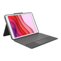 comparateur de prix Logitech Combo Touch - Clavier et étui - avec trackpad - rétroéclairé - Apple Smart connector - France - graphite - pour Apple 10.2-inch iPad (7ème
