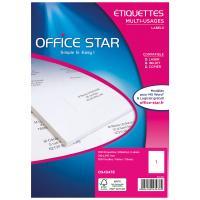 Comparateur de prix Office Star Etiquettes 210 x 297 mm x 100