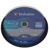 10 BD-R vierge Verbatim Blu-ray 50Go 6x, en cakebox - neuf