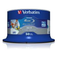 Verbatim bd-r sl datalife htl 6xspd wide pr 50pk