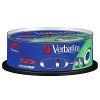 Comparateur de prix Verbatim CD-R 700 Mo 52x (spindle de 25)