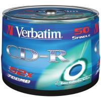Comparateur de prix Verbatim CD-R 52x certifié, 50 pièces en cake box (43351)