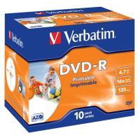 Comparer les prix du Verbatim DVD-R 4.7 Go 16x imprimable (par 10, boite)