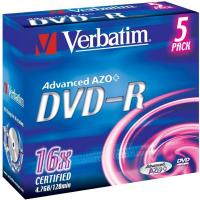 Comparer les prix du Verbatim DVD-R 4.7 Go 16x (par 5, boite)