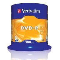comparateur de prix Verbatim DVD-R 4.7 Go certifié 16x (pack de 100, spindle)