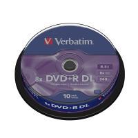 Comparer les prix du Verbatim DVD+R DL 8.5 Go 8x (par 10, spindle)