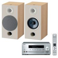 comparateur de prix Yamaha MusicCast CRX-N470D Argent + Focal Chora 806 Light Wood