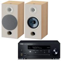 comparateur de prix Yamaha MusicCast CRX-N470D Noir + Focal Chora 806 Light Wood