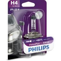 Comparateur de prix Philips 681414 VisionPlus 60% H4, 12 V, 60/55 W