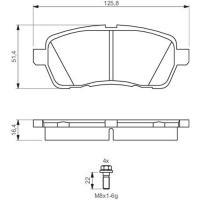 Comparateur de prix Jeu De 4 Plaquettes De Frein À Disque Bosch 0986494195