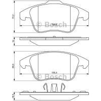 Comparateur de prix Bosch Jeu de 4 plaquettes de frein à disque 0986494324