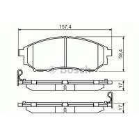 Comparateur de prix BOSCH Jeu de 4 plaquettes de frein BOSCH 0 986 494 295