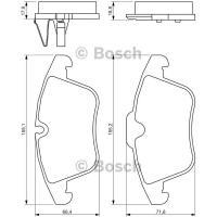 Comparateur de prix Bosch Jeu de 4 plaquettes de frein à disque 0986494371