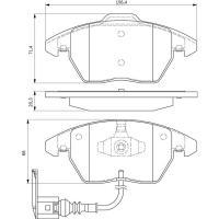 Comparateur de prix Kit de plaquettes de frein, frein a disque BOSCH 0986424797