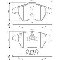 Comparateur de prix BOSCH Jeu de 4 plaquettes de frein BOSCH 0 986 424 825
