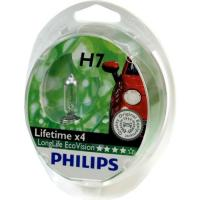 2 Ampoules Philips H7 Longlife Ecovision 55 W 12 V