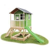 Comparer les prix du EXIT Maison cabane de jardin enfant avec toboggan Loft 500, bois, verte
