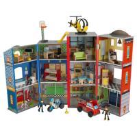 Kidkraft® Maison de jeu héros pompier police, bois 63239  en solde