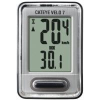Cateye Vélo 7 Cc-Vl520 Compteur Filaire Argent