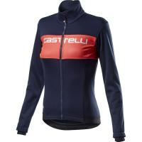 Comparateur de prix Castelli Women's Como Jacket - Savile Blue-Brilliant Pink, Savile Blue-Brilliant Pink