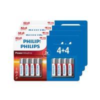 comparateur de prix Lot de 32 piles Philips AA 4 packs de 4+4