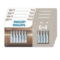 comparateur de prix Lot de 40 piles alcalines Philips AAA 4 pack de 6+4