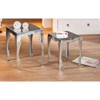 Comparateur de prix Links 87300525 Table basse Argent aluminium Lot de deux tables 39,5x39,5x50 / 34,5x34,5x42cm