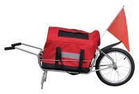 Comparateur de prix vidaXL Remorque de vélo à une roue avec sac de rangement