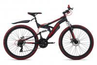 VTT Tout Suspendu 26'' Bliss Pro noir-rouge TC 46 cm KS Cycling