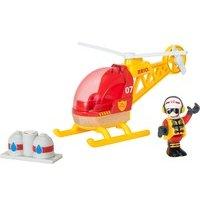 comparateur de prix Village Brio : Hélicoptère des pompiers en bois