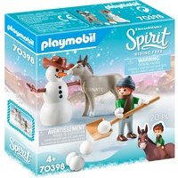 Playmobil Spirit Riding Free 70398 La Mèche et Monsieur Carotte en hiver
