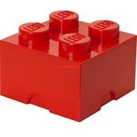 comparateur de prix Brique de rangement 4 plots lego rouge