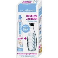 Bouteille Sodastream Pack Cylindre CO2 60L + 1 carafe verre