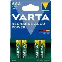 comparateur de prix 4 piles rechargeables accu VARTA AAA LR03 1.2V 1000mAh